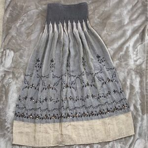 Lapis One Size Fits all Skirt with Embellishments